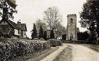 Saint Mary's Cottage and the church about 1920 [Z1306/85]